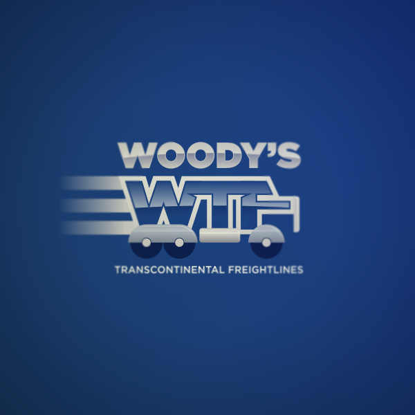 Logo Design by Private User - Entry No. 49 in the Logo Design Contest Creative Logo Design for Woody's Transcontinental Freightlines.