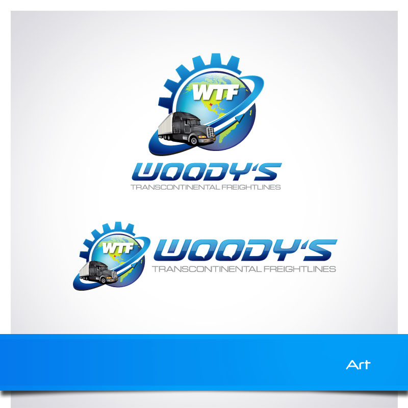 Logo Design by Puspita Wahyuni - Entry No. 50 in the Logo Design Contest Creative Logo Design for Woody's Transcontinental Freightlines.