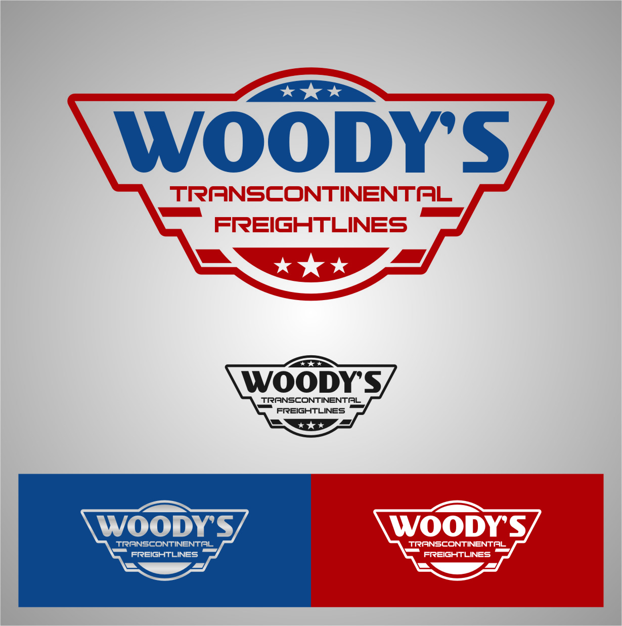Logo Design by RasYa Muhammad Athaya - Entry No. 51 in the Logo Design Contest Creative Logo Design for Woody's Transcontinental Freightlines.