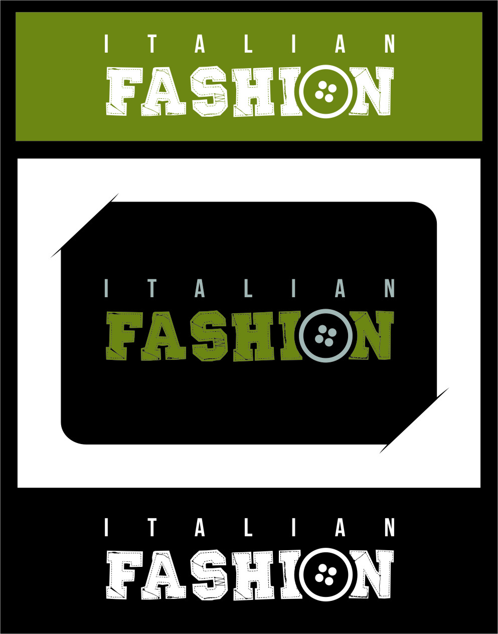 Logo Design by Ngepet_art - Entry No. 13 in the Logo Design Contest Logo for Web Page ItalianFashion.cz.