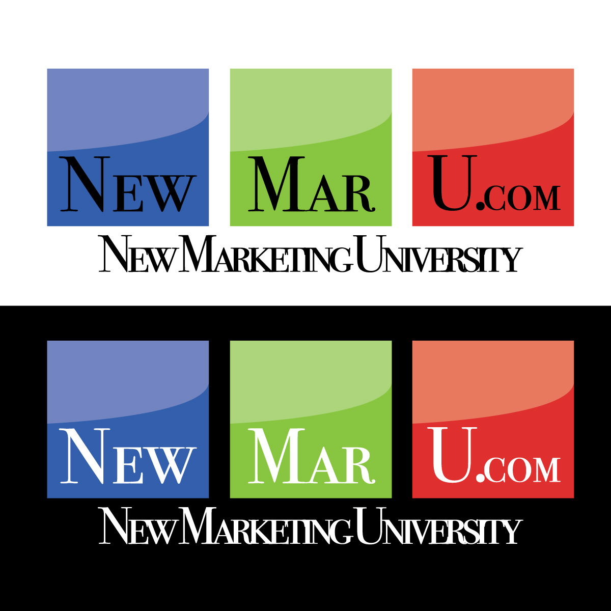 Logo Design by dottDesign - Entry No. 7 in the Logo Design Contest NewMarU.com (New Marketing University).