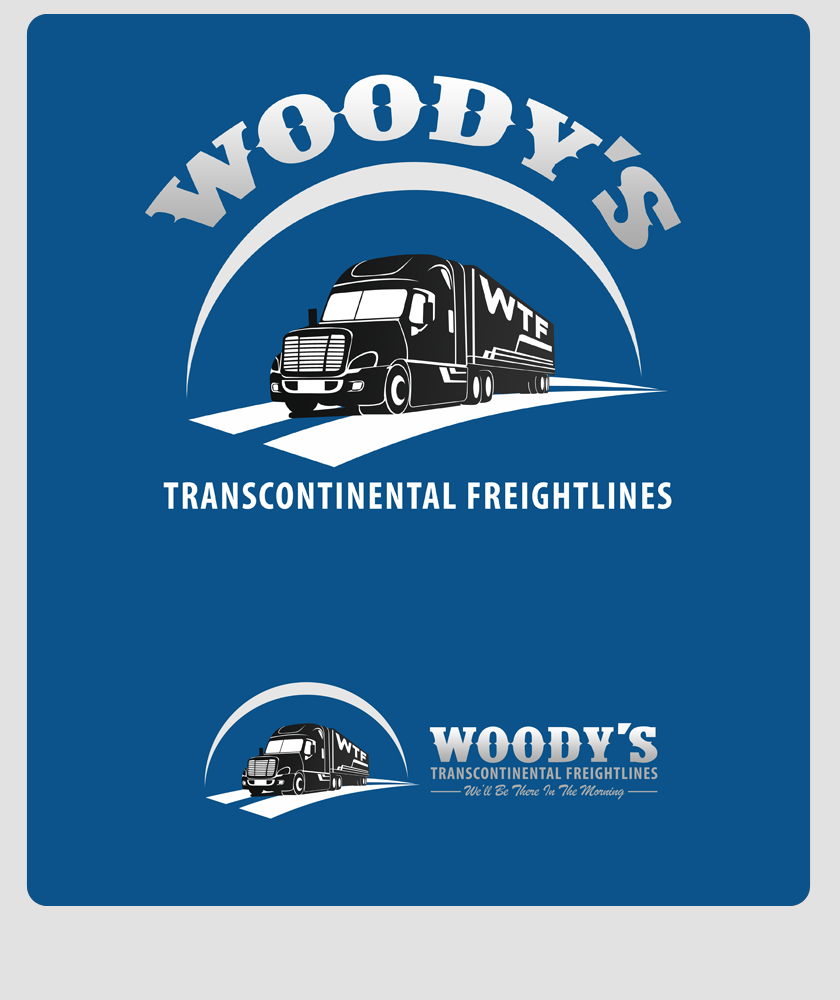 Logo Design by Private User - Entry No. 53 in the Logo Design Contest Creative Logo Design for Woody's Transcontinental Freightlines.