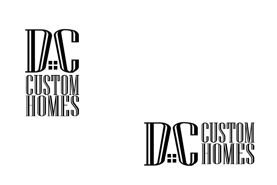 Logo Design by brands_in - Entry No. 15 in the Logo Design Contest Creative Logo Design for DC Custom Homes.