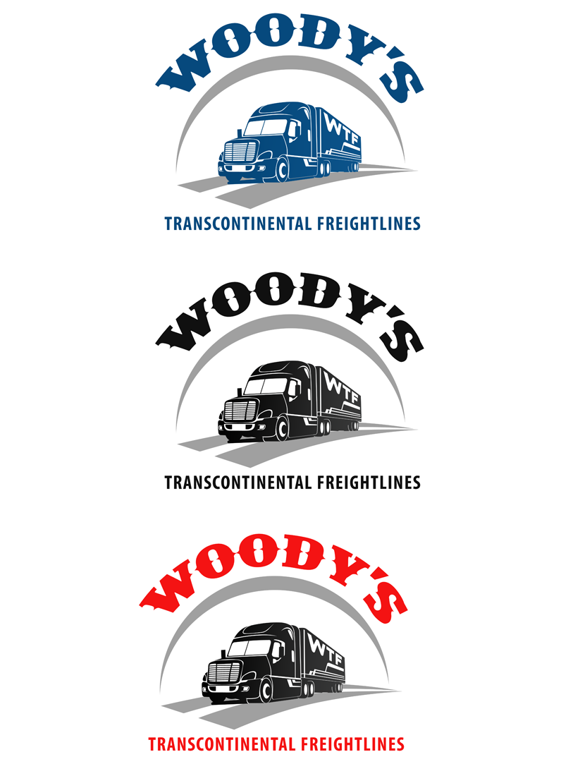 Logo Design by Private User - Entry No. 55 in the Logo Design Contest Creative Logo Design for Woody's Transcontinental Freightlines.