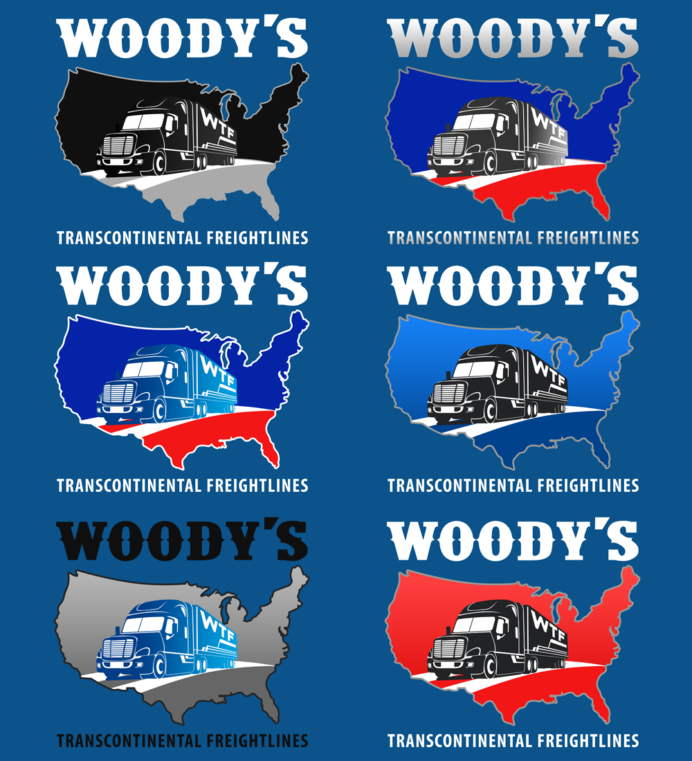 Logo Design by Private User - Entry No. 56 in the Logo Design Contest Creative Logo Design for Woody's Transcontinental Freightlines.