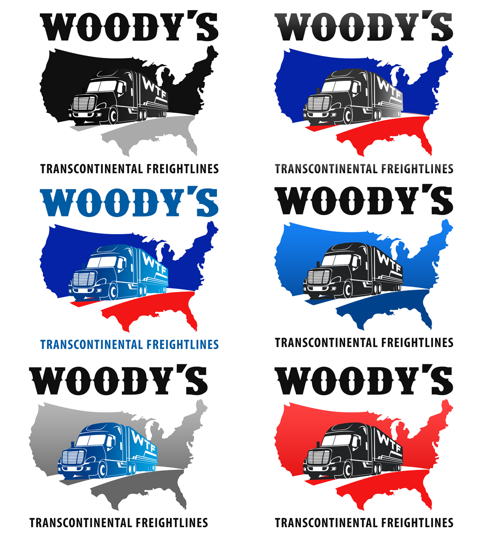 Logo Design by Private User - Entry No. 57 in the Logo Design Contest Creative Logo Design for Woody's Transcontinental Freightlines.