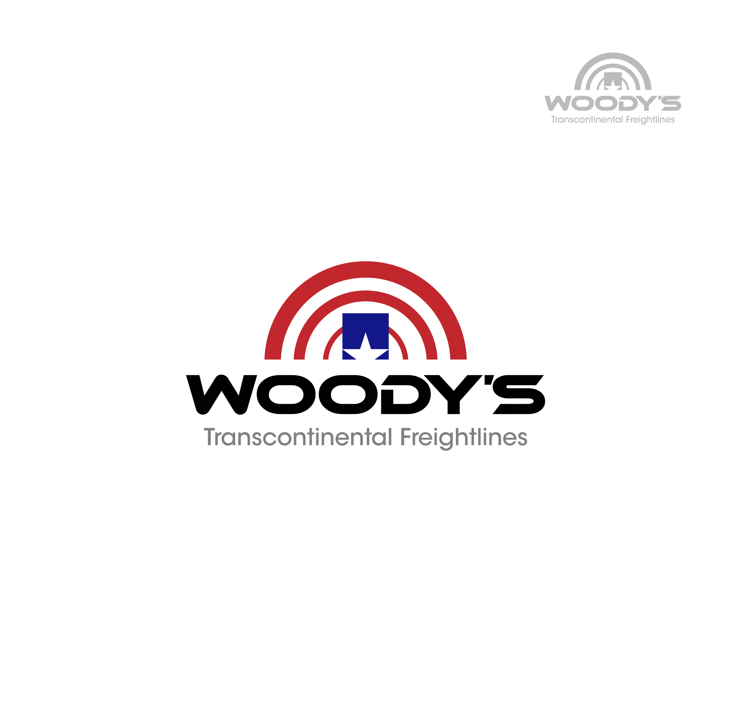 Logo Design by chinie05 - Entry No. 58 in the Logo Design Contest Creative Logo Design for Woody's Transcontinental Freightlines.