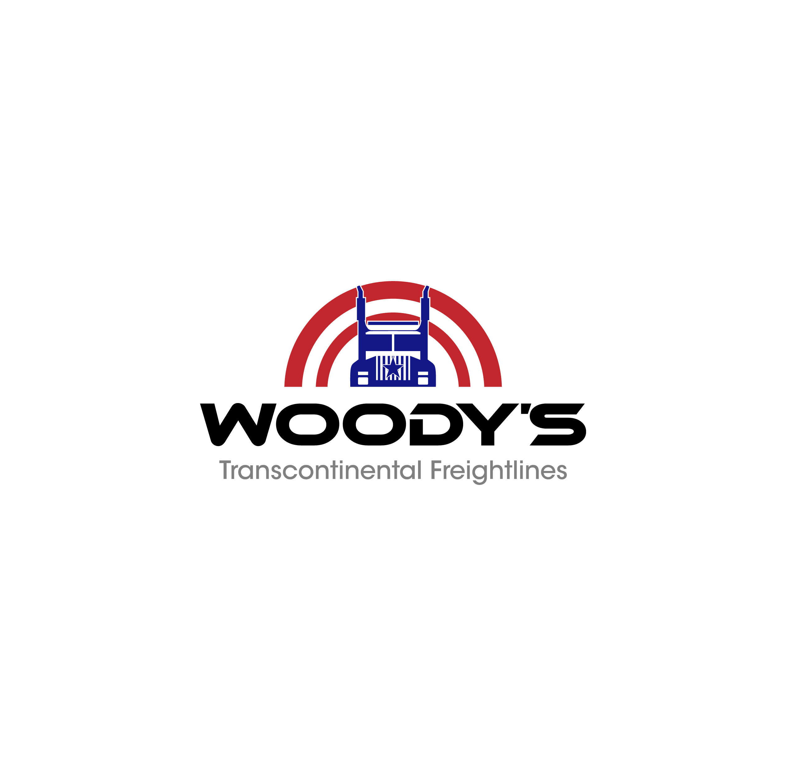 Logo Design by chinie05 - Entry No. 59 in the Logo Design Contest Creative Logo Design for Woody's Transcontinental Freightlines.