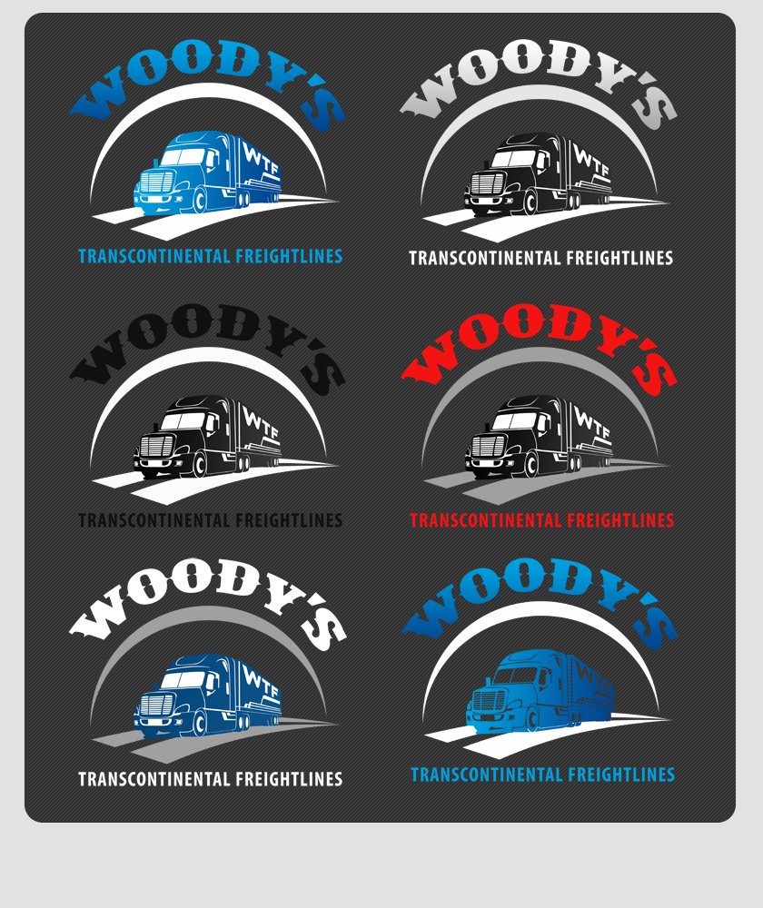 Logo Design by Private User - Entry No. 60 in the Logo Design Contest Creative Logo Design for Woody's Transcontinental Freightlines.