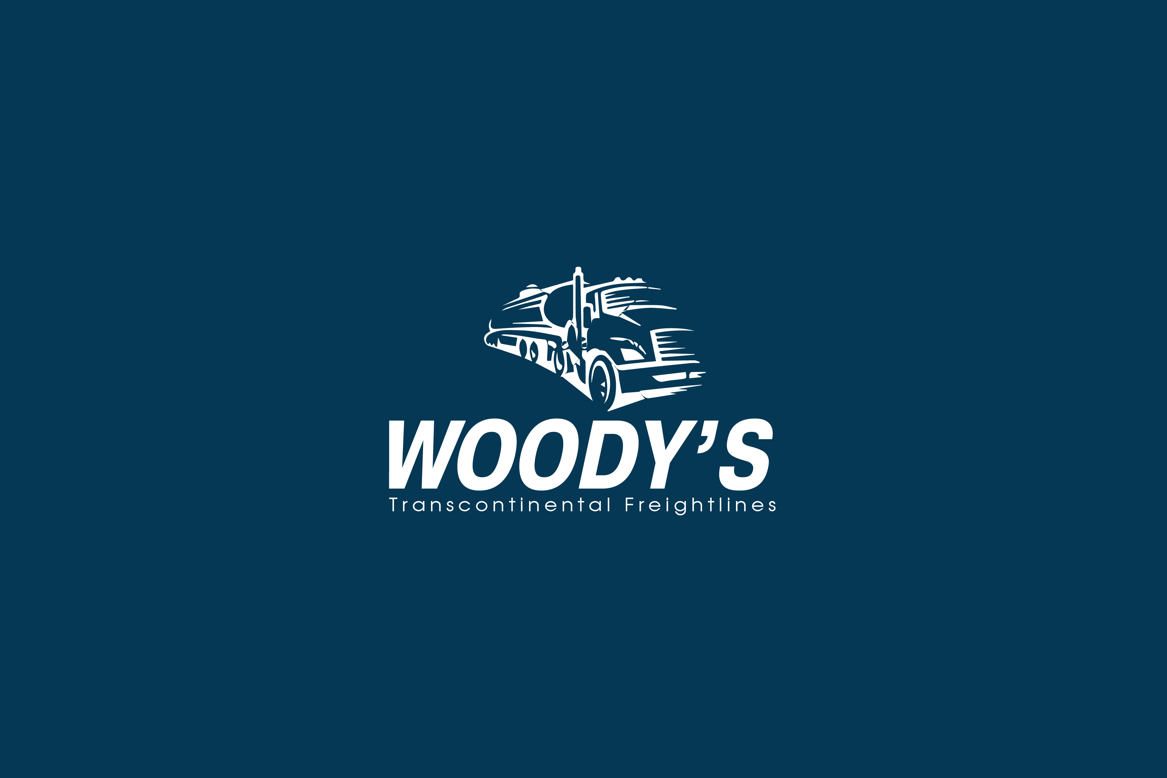 Logo Design by brands_in - Entry No. 61 in the Logo Design Contest Creative Logo Design for Woody's Transcontinental Freightlines.
