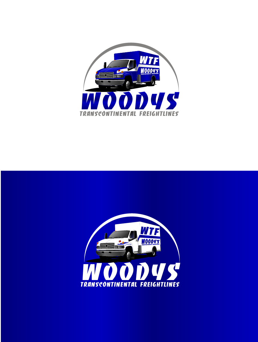 Logo Design by Private User - Entry No. 66 in the Logo Design Contest Creative Logo Design for Woody's Transcontinental Freightlines.