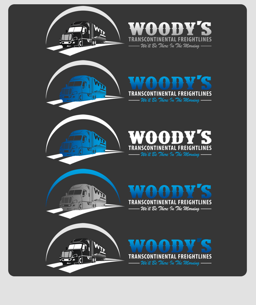 Logo Design by Private User - Entry No. 67 in the Logo Design Contest Creative Logo Design for Woody's Transcontinental Freightlines.
