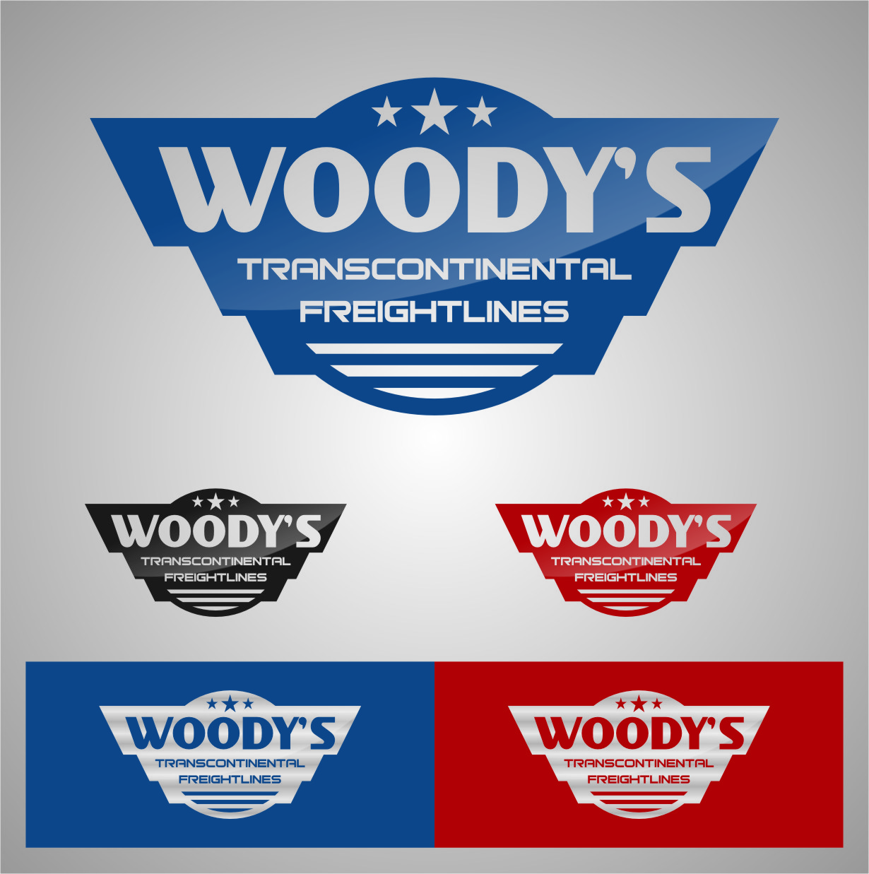 Logo Design by RasYa Muhammad Athaya - Entry No. 68 in the Logo Design Contest Creative Logo Design for Woody's Transcontinental Freightlines.