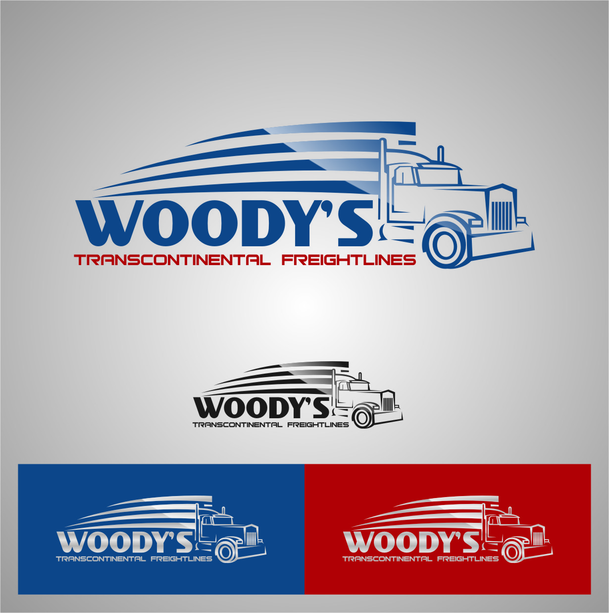 Logo Design by Ngepet_art - Entry No. 69 in the Logo Design Contest Creative Logo Design for Woody's Transcontinental Freightlines.