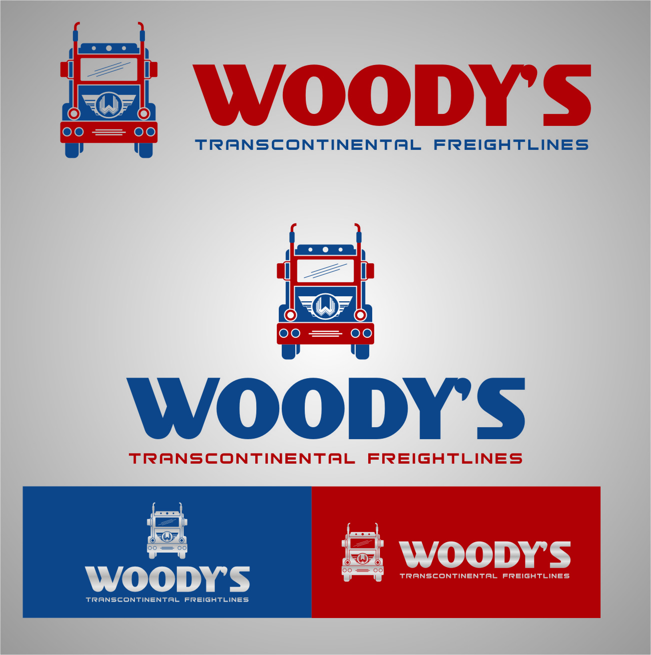 Logo Design by Ngepet_art - Entry No. 70 in the Logo Design Contest Creative Logo Design for Woody's Transcontinental Freightlines.