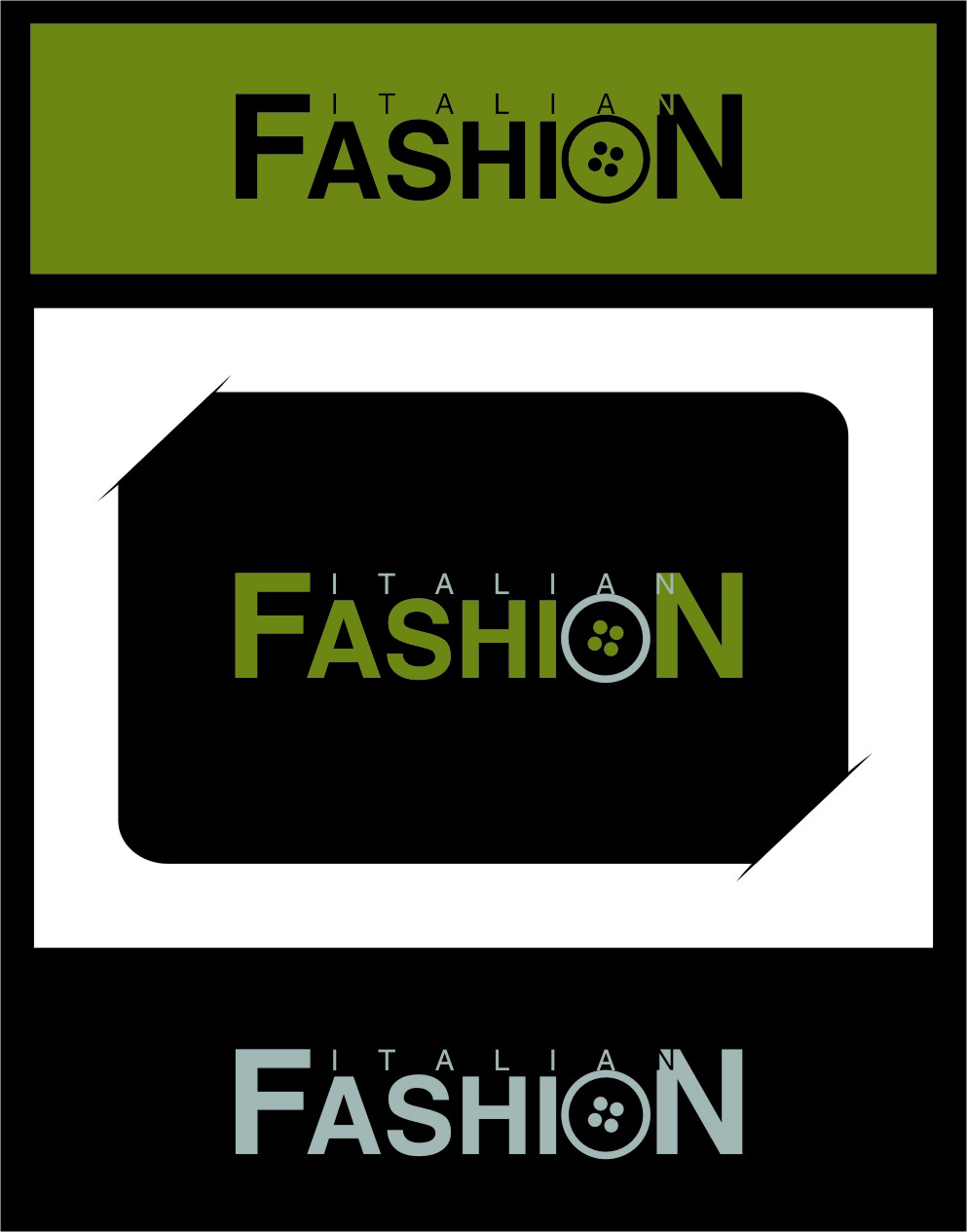 Logo Design by RoSyid Rono-Rene On Java - Entry No. 19 in the Logo Design Contest Logo for Web Page ItalianFashion.cz.