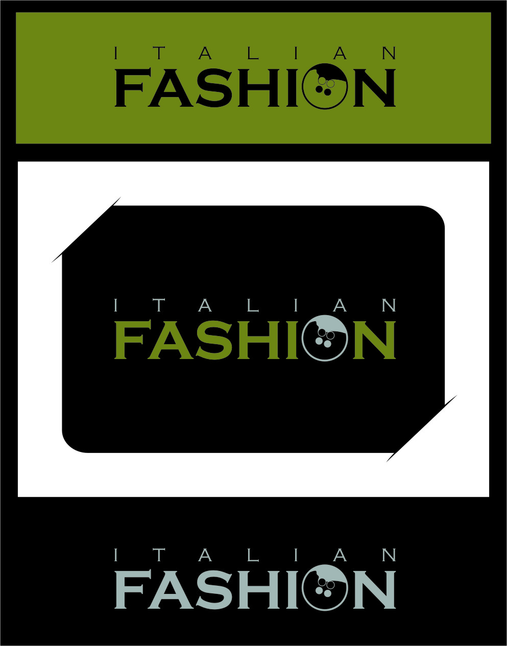 Logo Design by RoSyid Rono-Rene On Java - Entry No. 20 in the Logo Design Contest Logo for Web Page ItalianFashion.cz.