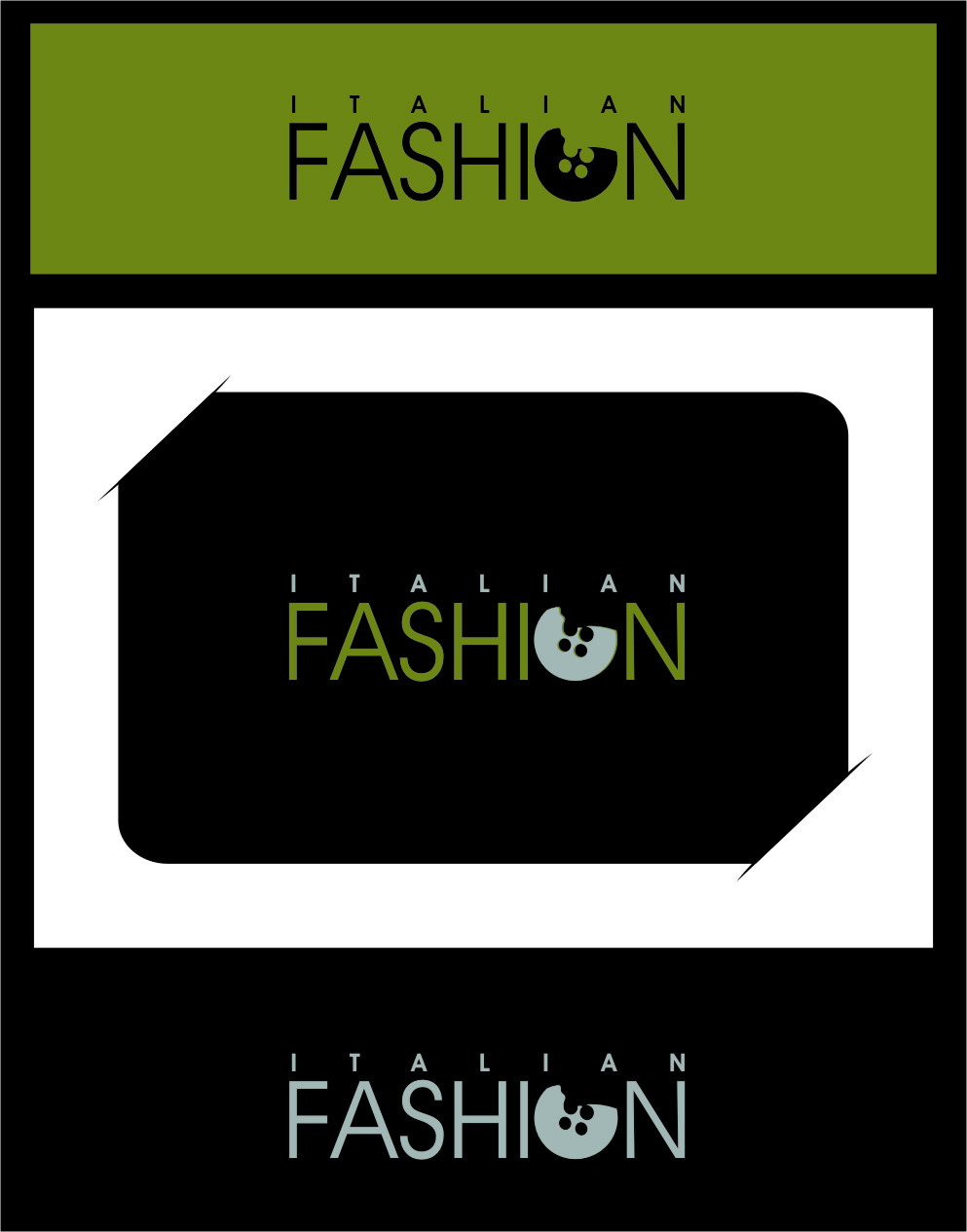 Logo Design by RasYa Muhammad Athaya - Entry No. 21 in the Logo Design Contest Logo for Web Page ItalianFashion.cz.