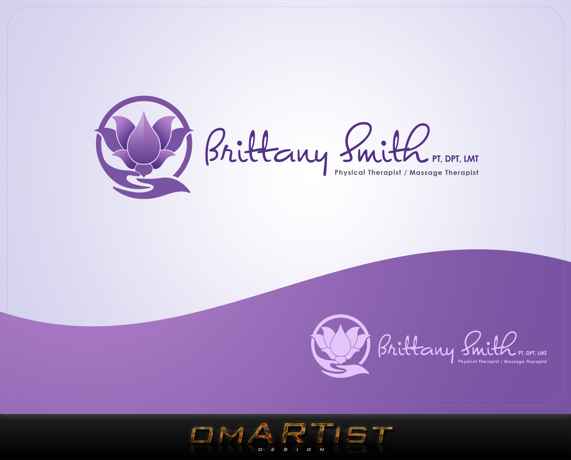 Logo Design by omARTist - Entry No. 63 in the Logo Design Contest Artistic Logo Design for my personal massage therapy business.
