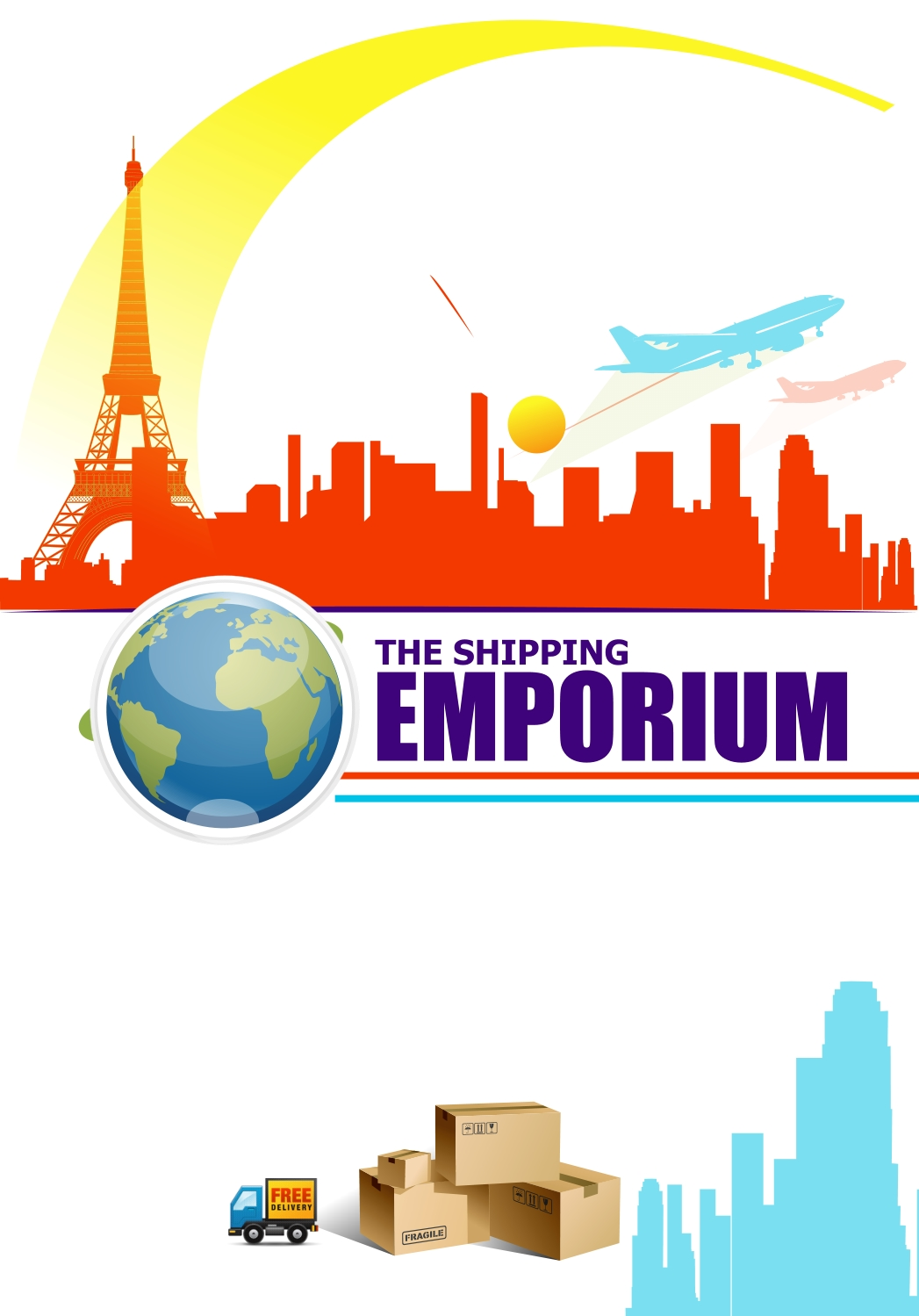 Print Design by Private User - Entry No. 2 in the Print Design Contest Imaginative Print Design for The Shipping Emporium.