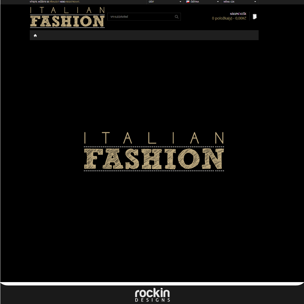 Logo Design by rockin - Entry No. 24 in the Logo Design Contest Logo for Web Page ItalianFashion.cz.