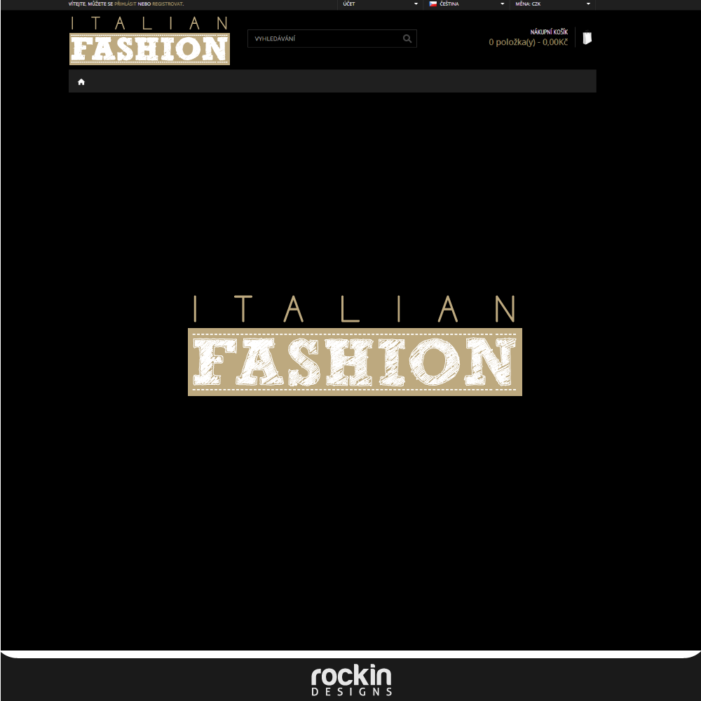 Logo Design by rockin - Entry No. 25 in the Logo Design Contest Logo for Web Page ItalianFashion.cz.