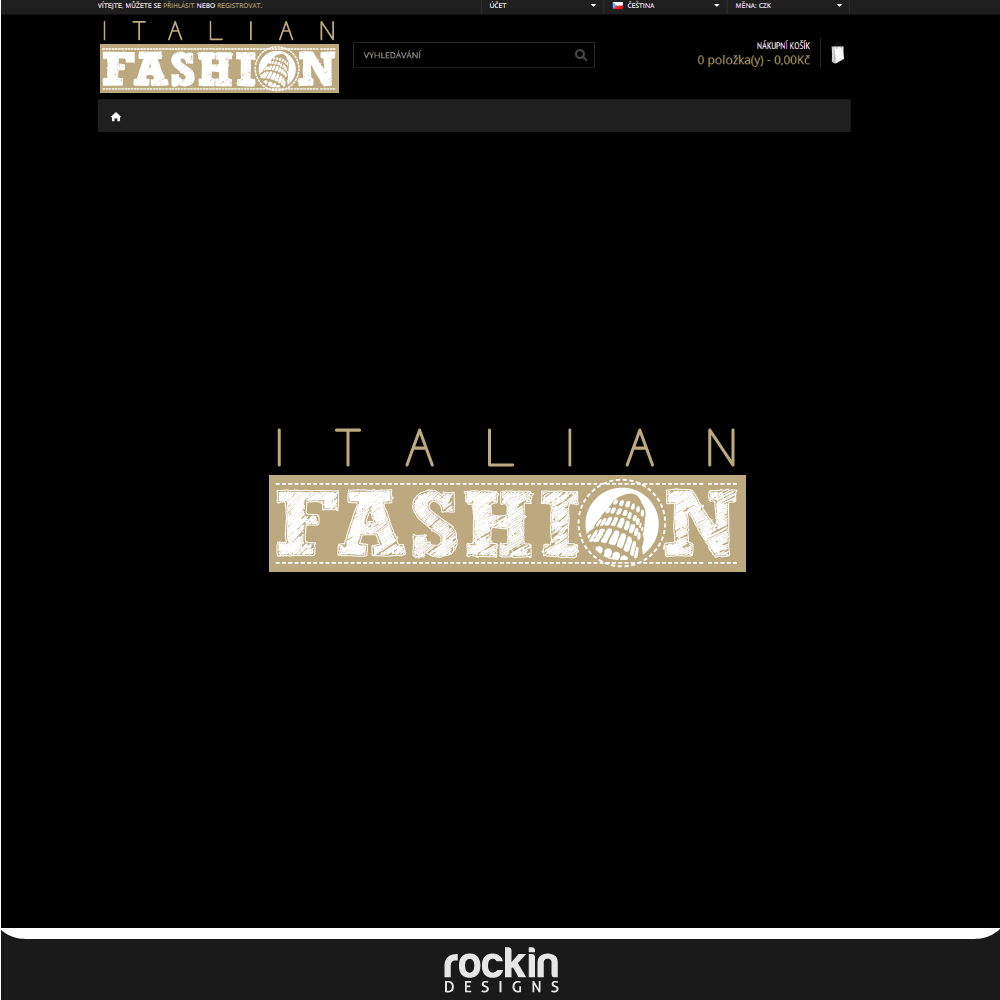 Logo Design by rockin - Entry No. 26 in the Logo Design Contest Logo for Web Page ItalianFashion.cz.