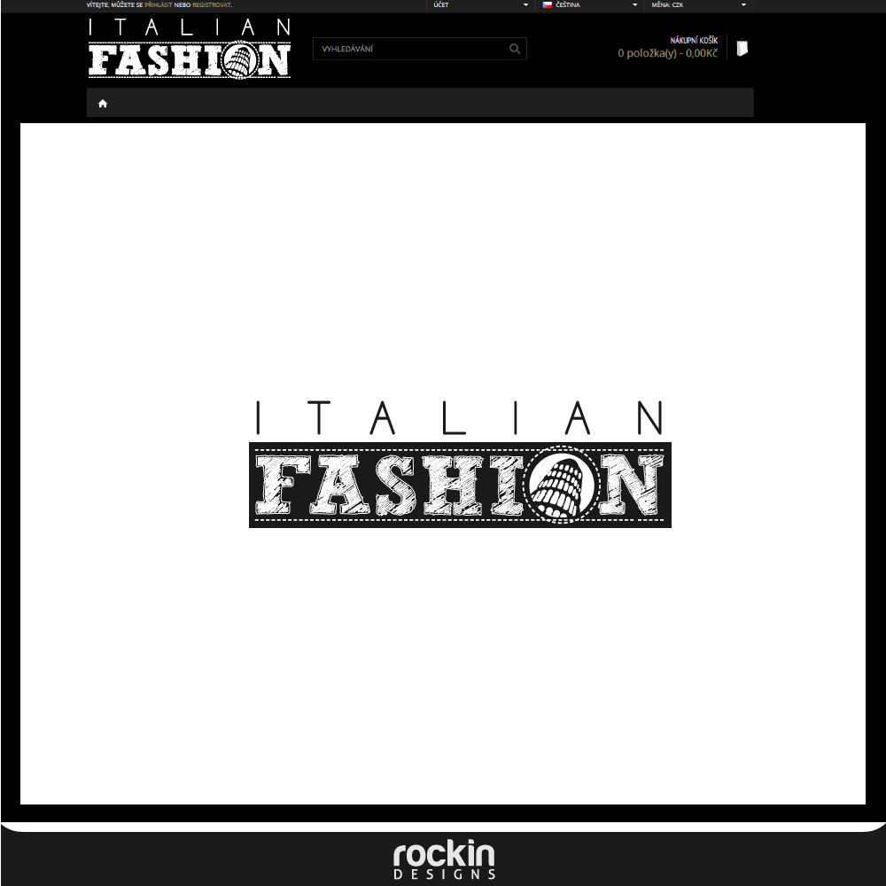 Logo Design by rockin - Entry No. 28 in the Logo Design Contest Logo for Web Page ItalianFashion.cz.