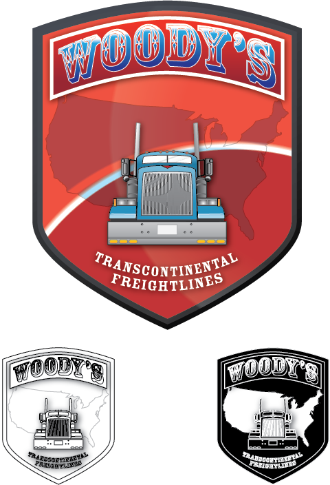 Logo Design by Chris Cowan - Entry No. 73 in the Logo Design Contest Creative Logo Design for Woody's Transcontinental Freightlines.