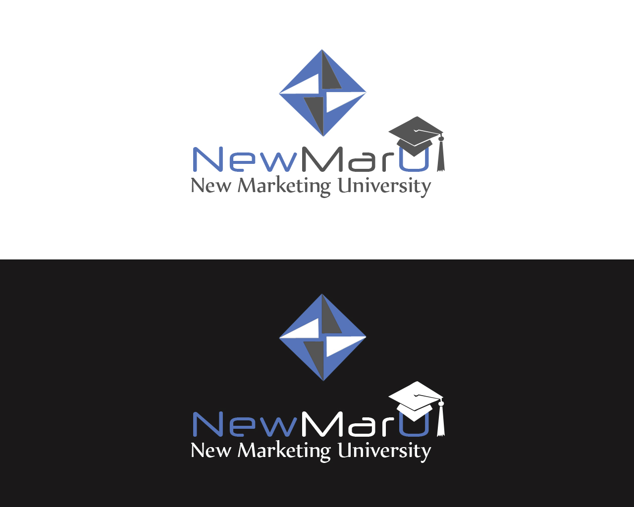 Logo Design by Prokopiev - Entry No. 12 in the Logo Design Contest NewMarU.com (New Marketing University).