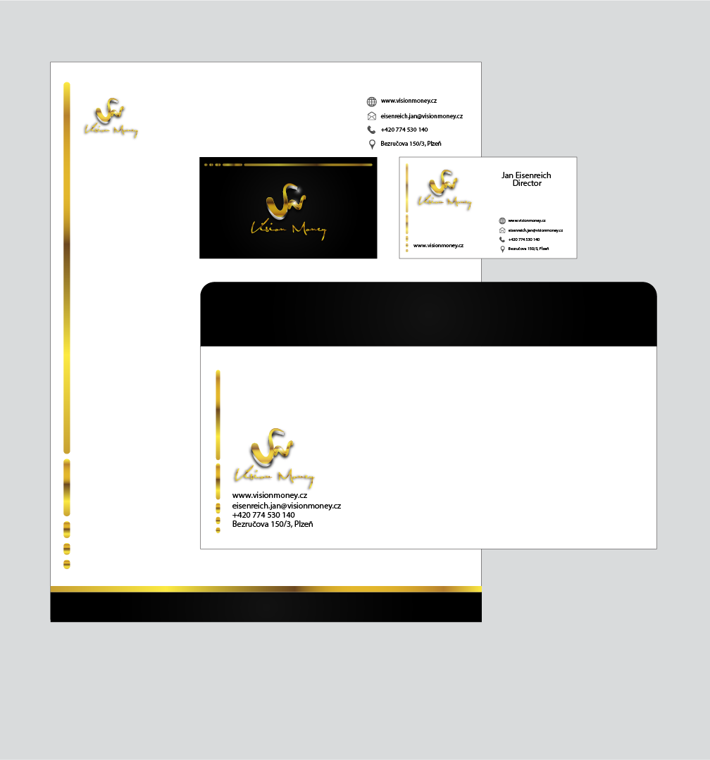 Business Card Design by Private User - Entry No. 5 in the Business Card Design Contest Captivating Business Card Design for VISION MONEY.