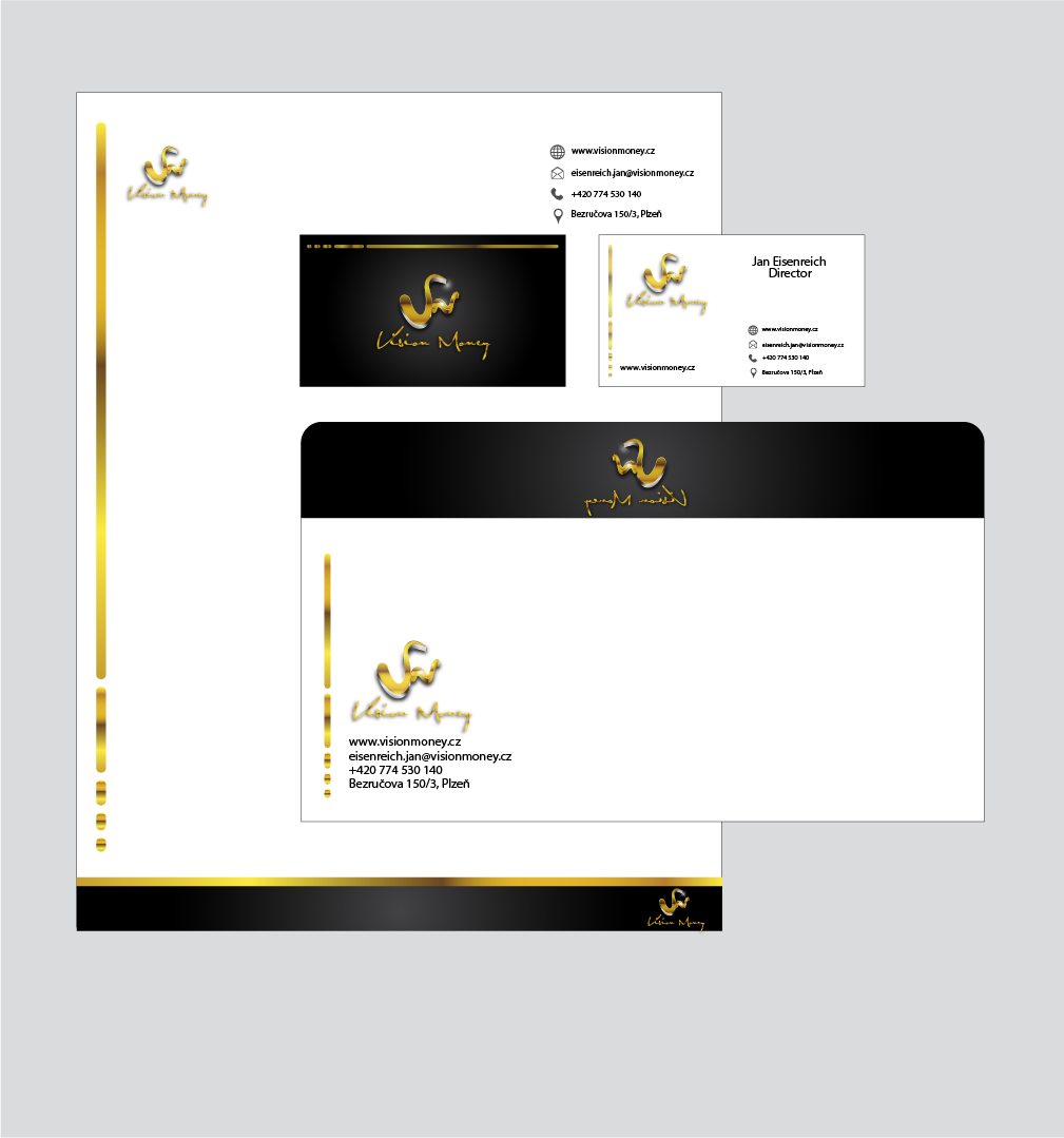 Business Card Design by Private User - Entry No. 6 in the Business Card Design Contest Captivating Business Card Design for VISION MONEY.