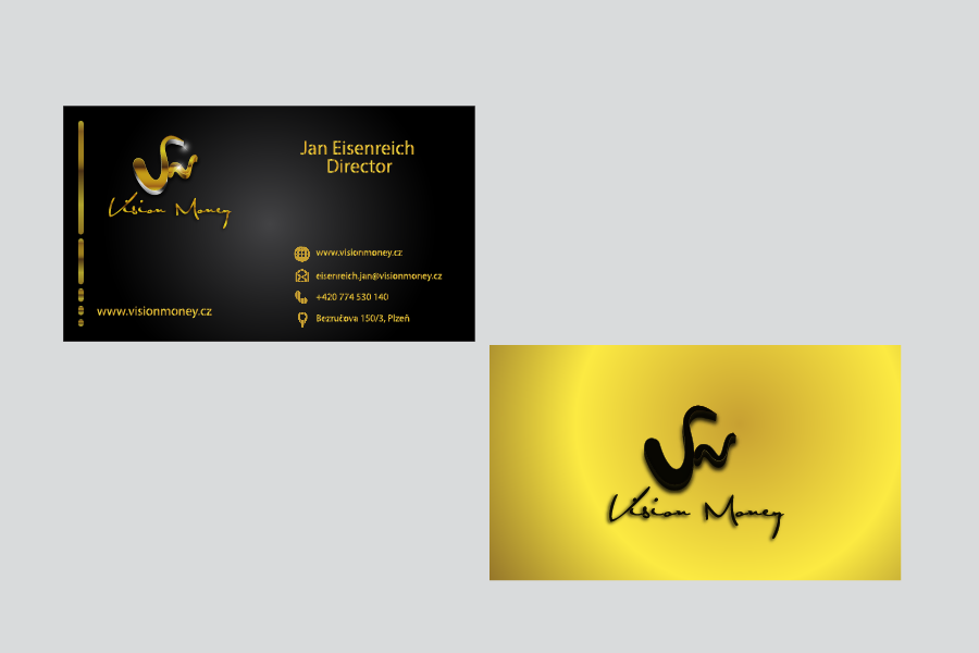 Business Card Design by Private User - Entry No. 8 in the Business Card Design Contest Captivating Business Card Design for VISION MONEY.