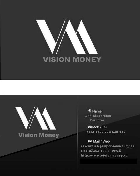 Business Card Design by ArtmosphereInteractive - Entry No. 9 in the Business Card Design Contest Captivating Business Card Design for VISION MONEY.