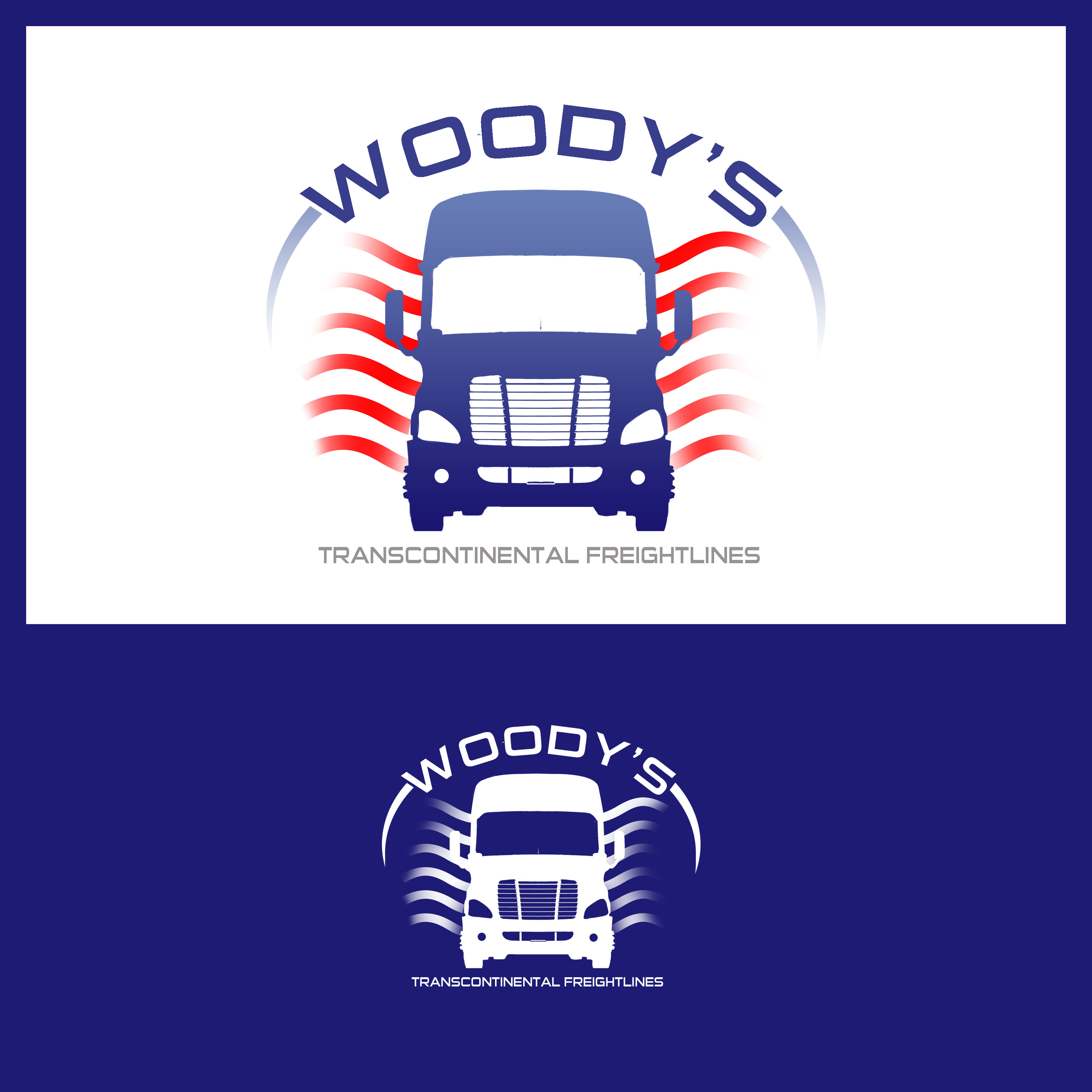 Logo Design by Allan Esclamado - Entry No. 74 in the Logo Design Contest Creative Logo Design for Woody's Transcontinental Freightlines.