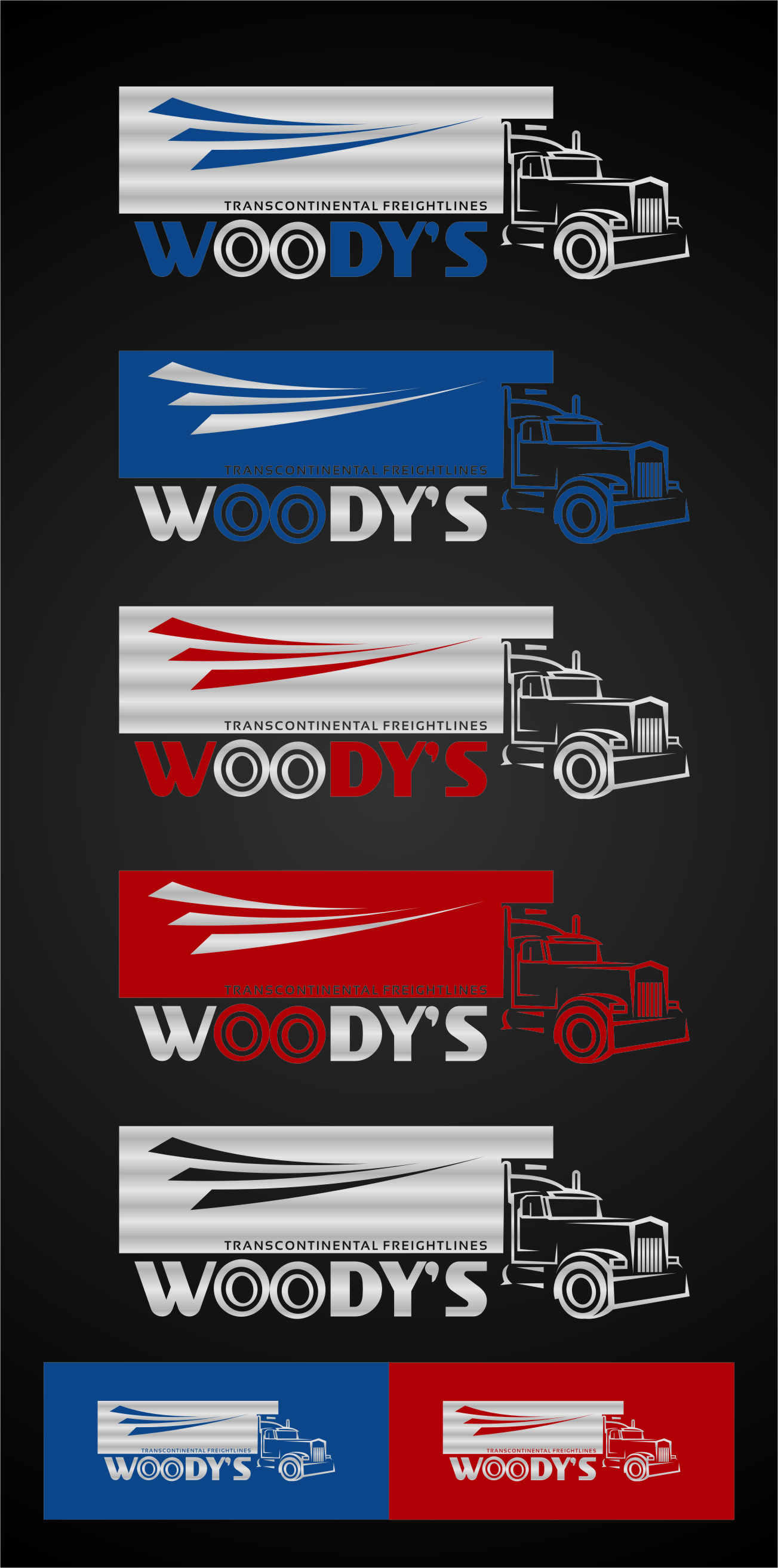 Logo Design by RoSyid Rono-Rene On Java - Entry No. 75 in the Logo Design Contest Creative Logo Design for Woody's Transcontinental Freightlines.