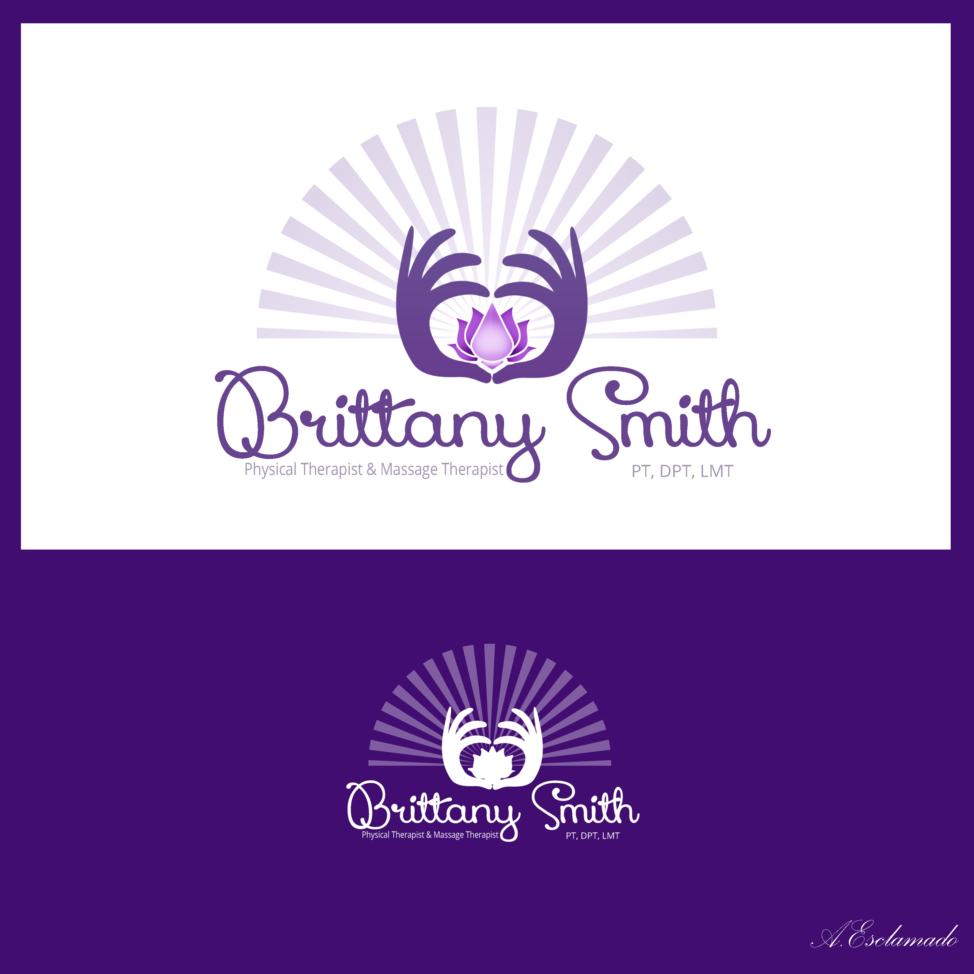 Logo Design by Allan Esclamado - Entry No. 82 in the Logo Design Contest Artistic Logo Design for my personal massage therapy business.
