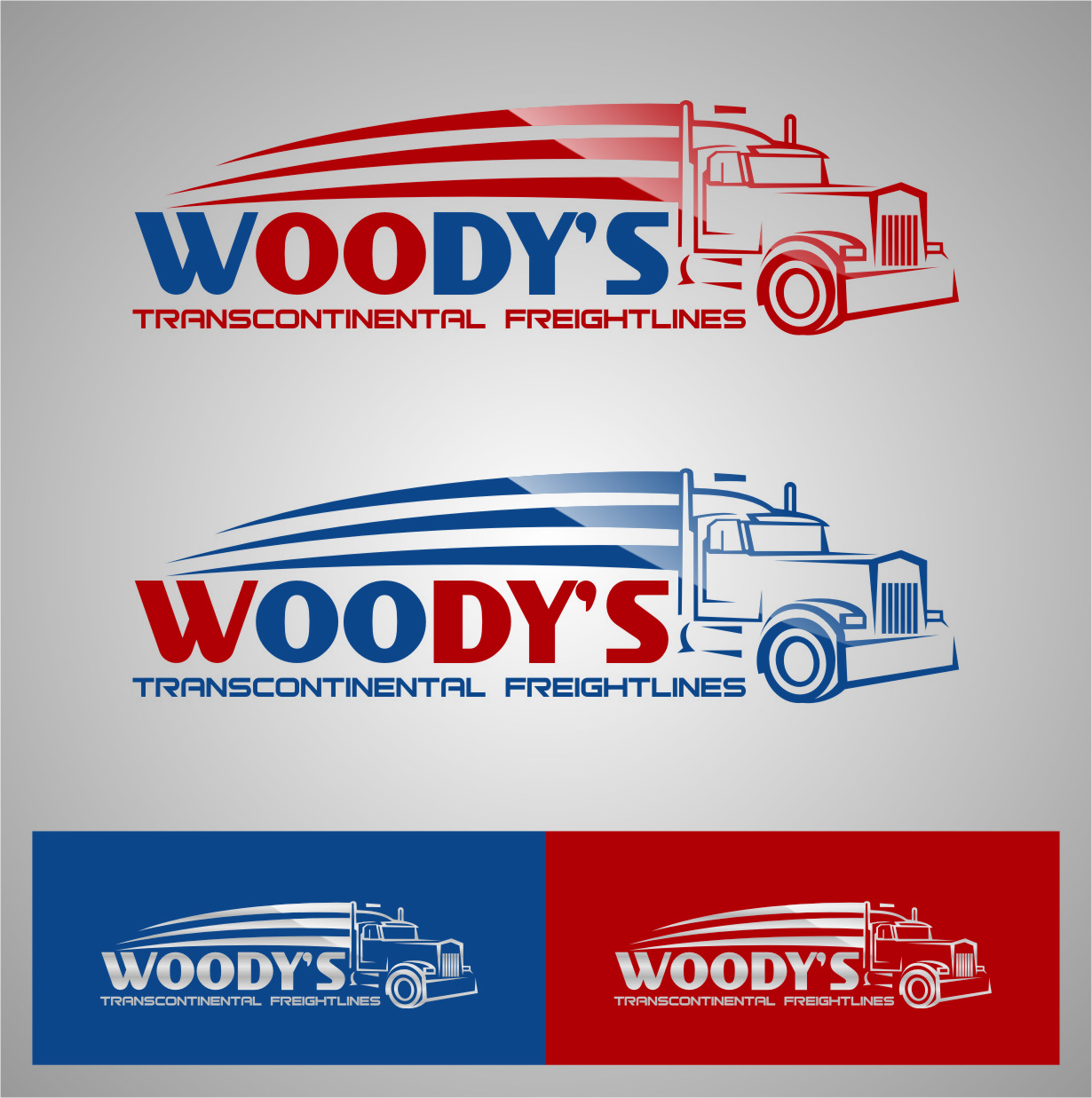 Logo Design by Ngepet_art - Entry No. 76 in the Logo Design Contest Creative Logo Design for Woody's Transcontinental Freightlines.