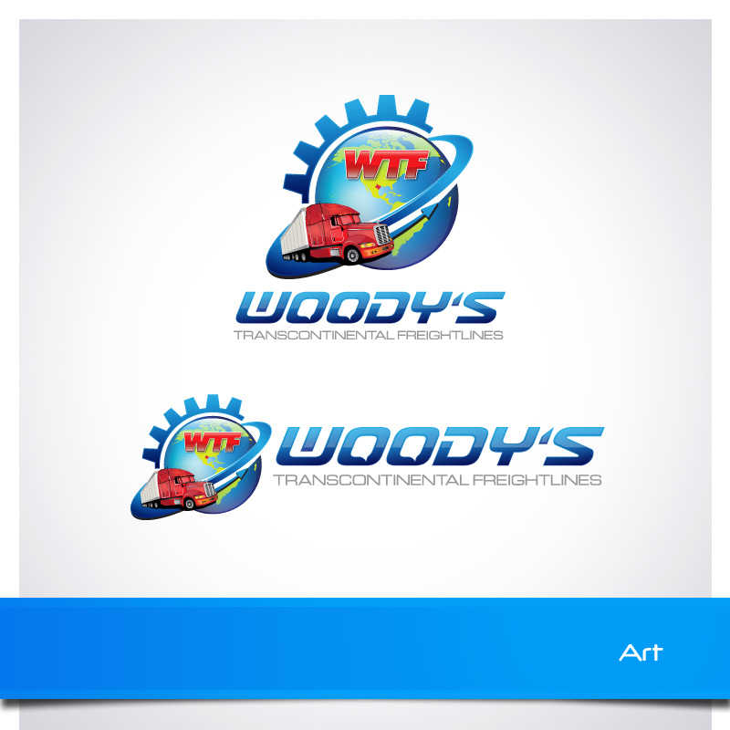 Logo Design by Puspita Wahyuni - Entry No. 77 in the Logo Design Contest Creative Logo Design for Woody's Transcontinental Freightlines.