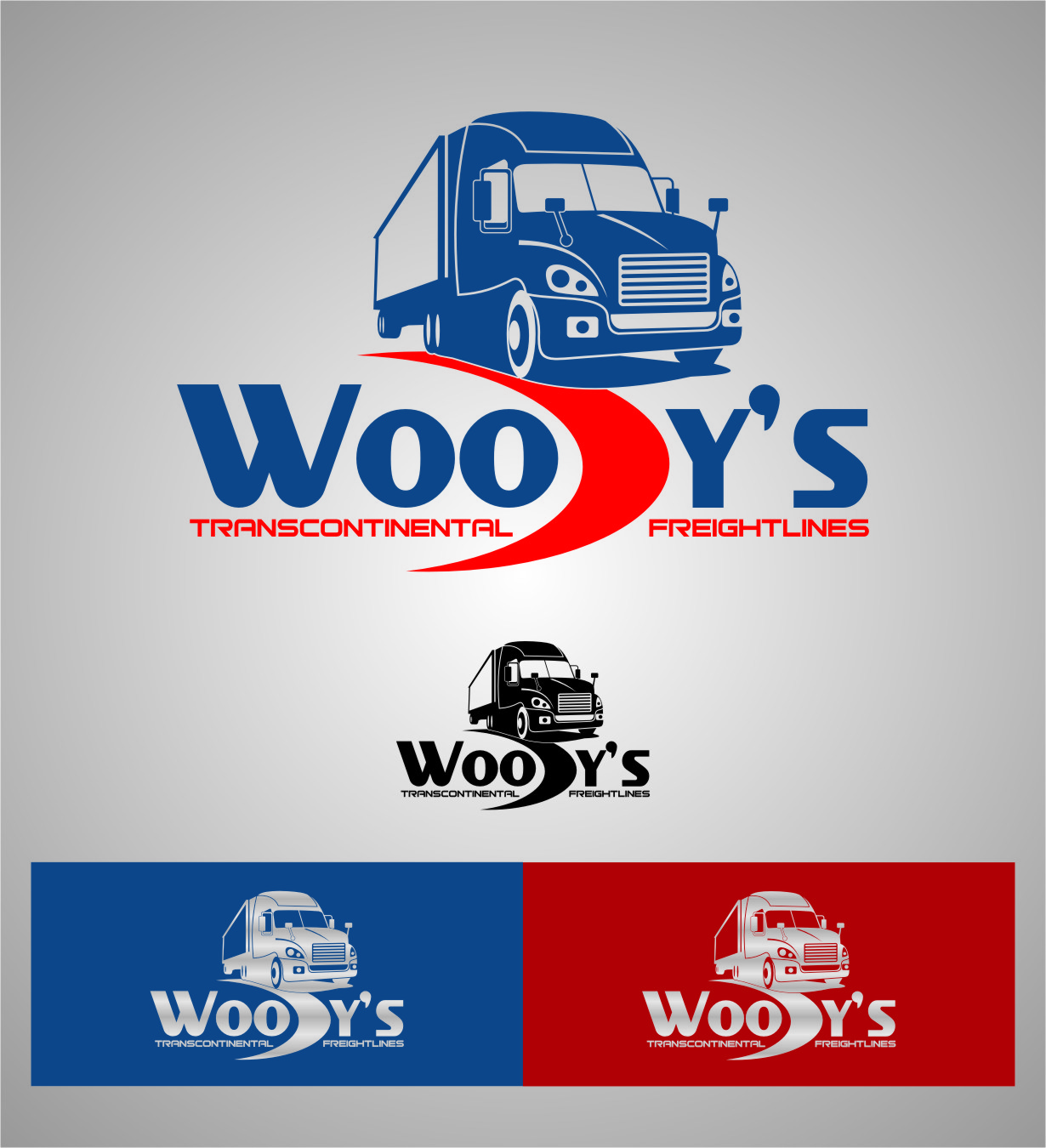 Logo Design by RoSyid Rono-Rene On Java - Entry No. 78 in the Logo Design Contest Creative Logo Design for Woody's Transcontinental Freightlines.