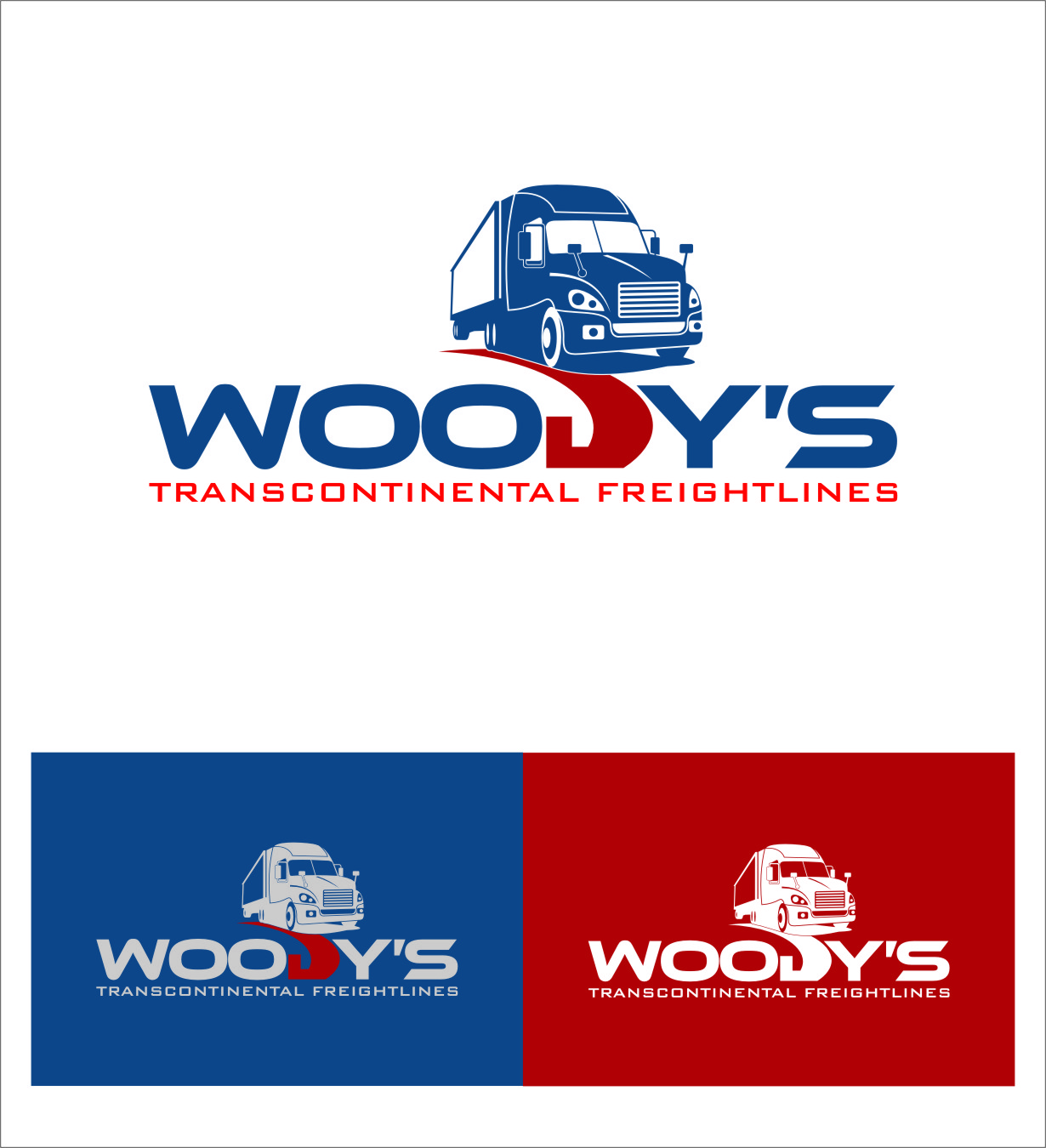 Logo Design by RasYa Muhammad Athaya - Entry No. 79 in the Logo Design Contest Creative Logo Design for Woody's Transcontinental Freightlines.