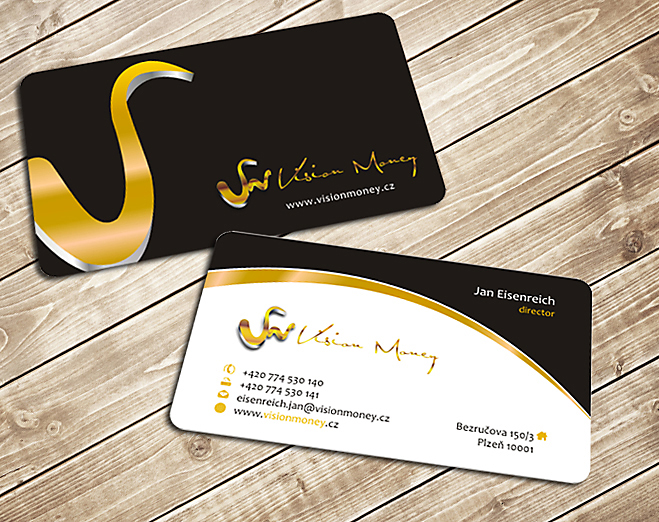 Business Card Design by Private User - Entry No. 15 in the Business Card Design Contest Captivating Business Card Design for VISION MONEY.