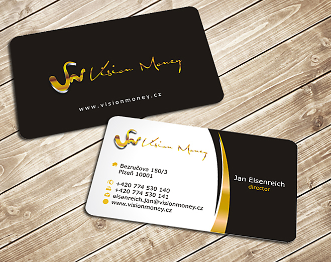 Business Card Design by Private User - Entry No. 16 in the Business Card Design Contest Captivating Business Card Design for VISION MONEY.