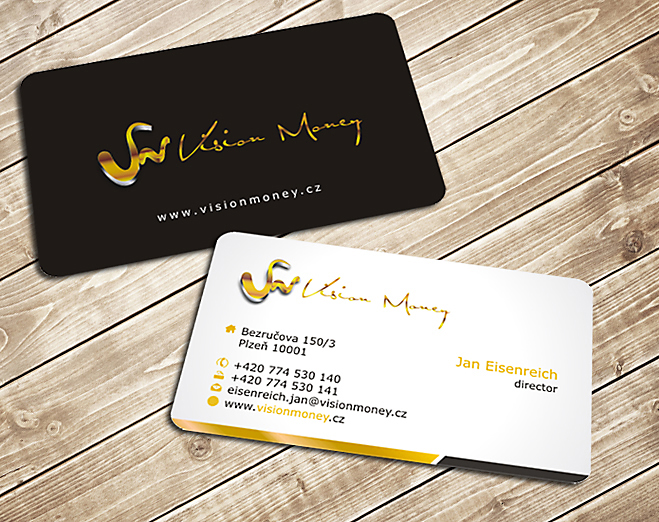 Business Card Design by Private User - Entry No. 17 in the Business Card Design Contest Captivating Business Card Design for VISION MONEY.