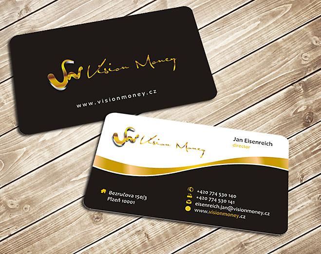 Business Card Design by Private User - Entry No. 18 in the Business Card Design Contest Captivating Business Card Design for VISION MONEY.