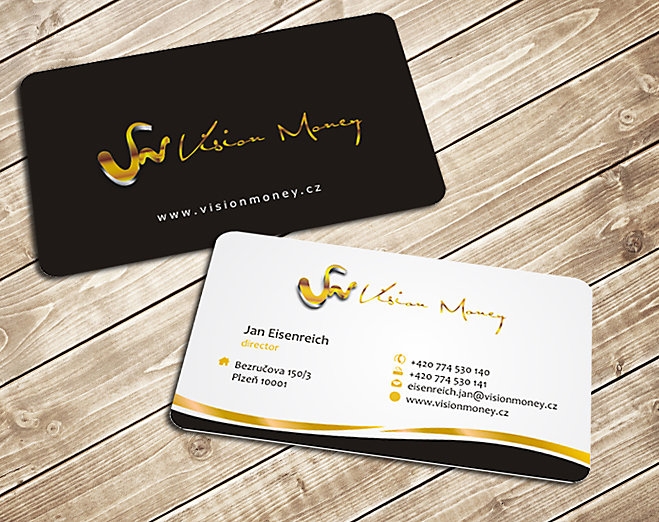 Business Card Design by Private User - Entry No. 19 in the Business Card Design Contest Captivating Business Card Design for VISION MONEY.