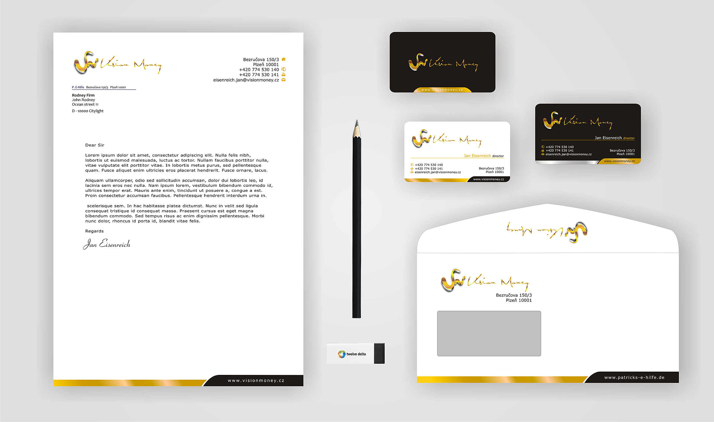 Business Card Design by Private User - Entry No. 23 in the Business Card Design Contest Captivating Business Card Design for VISION MONEY.