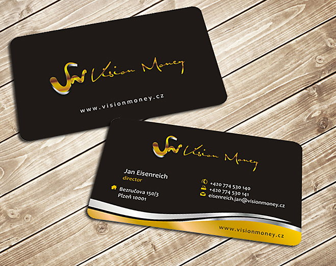 Business Card Design by Private User - Entry No. 24 in the Business Card Design Contest Captivating Business Card Design for VISION MONEY.