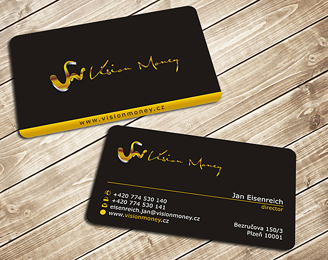 Business Card Design by Private User - Entry No. 25 in the Business Card Design Contest Captivating Business Card Design for VISION MONEY.