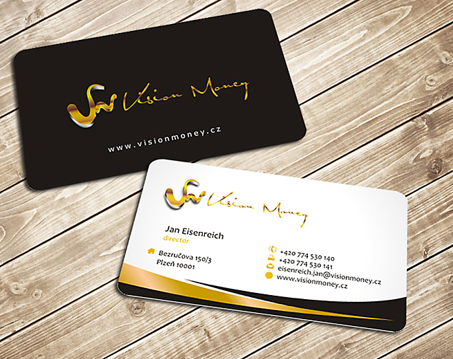 Business Card Design by Private User - Entry No. 26 in the Business Card Design Contest Captivating Business Card Design for VISION MONEY.
